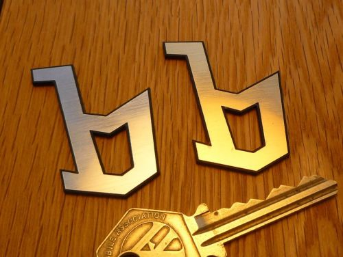 Bertone 'b' Laser Cut Self Adhesive Car Badge. Silver or Gold. 2