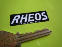 Rheos Helmet Oblong Black & White Stickers. 2