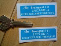 ATE Bremsgerat T 51 Servo Sticker. 2.5