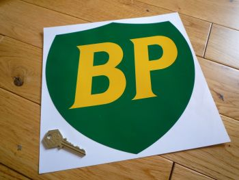 "BP '89 & On No Border Shield Large Sticker. 10""."