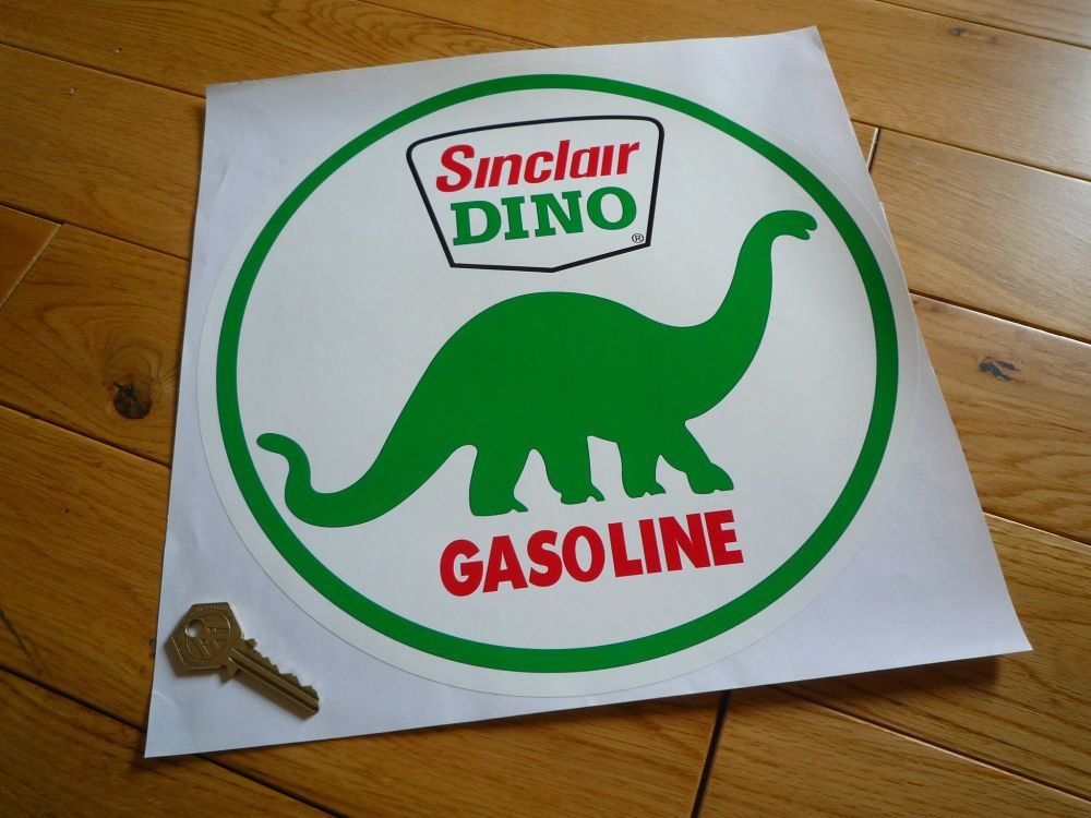 "Sinclair Dino Gasoline Circular Large Sticker. 12""."