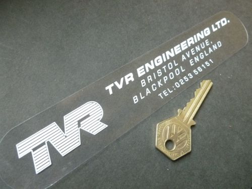 TVR Blackpool  White on Clear Window or Car Body Sticker. 8