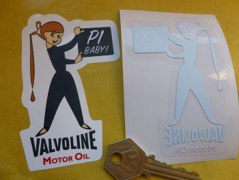 "Valvoline Girl P1 Baby Car Body or Window Sticker. 3""."