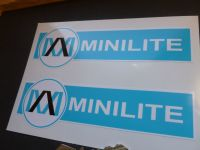 Minilite Pale Blue & White Shaped Stickers. 6