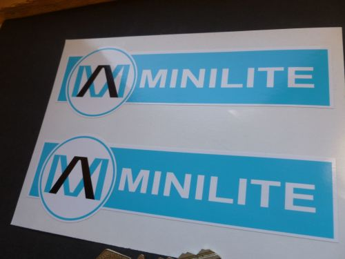Minilite PALE Blue & White Shaped Stickers. 6