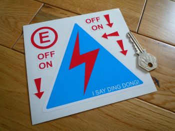 "Electrical Switch ID & Extinguisher Sticker Set. 5""."