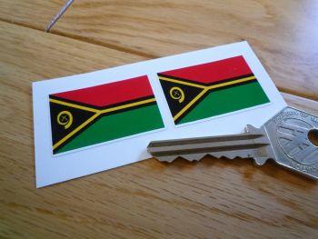 Vanuatu Flag Stickers. 38mm Pair.