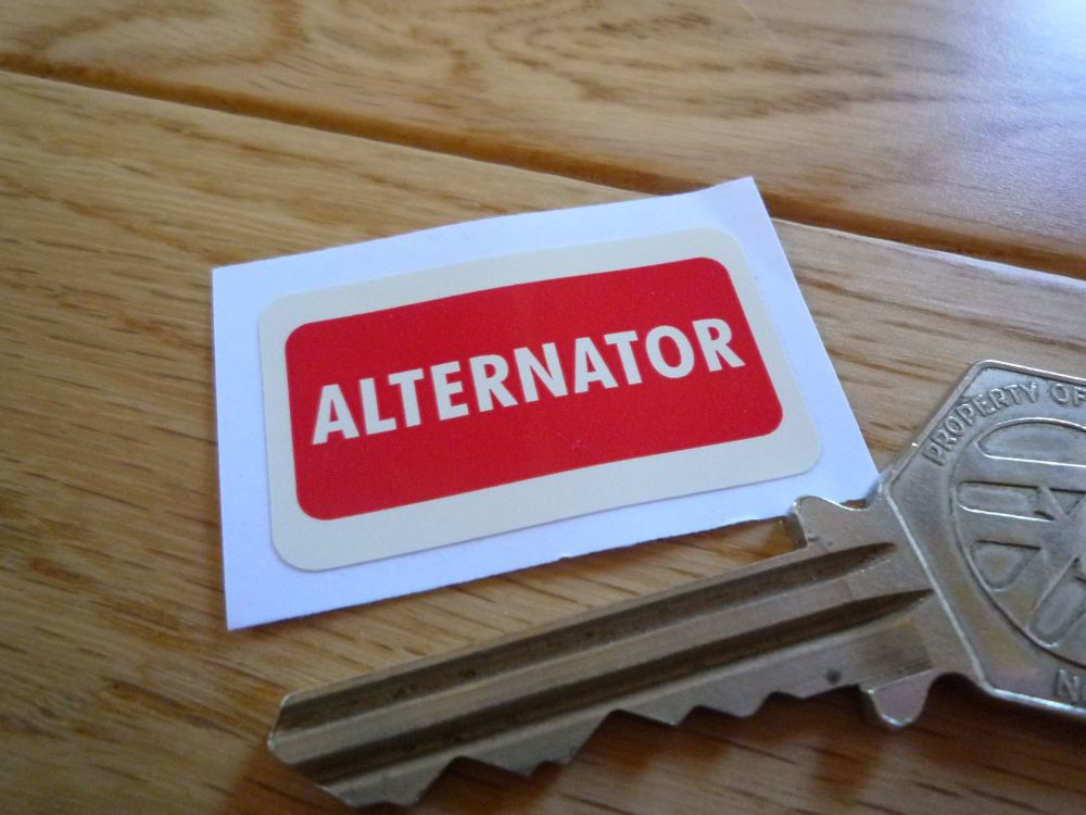 "Alternator Relay Sticker. 1.5"" ."