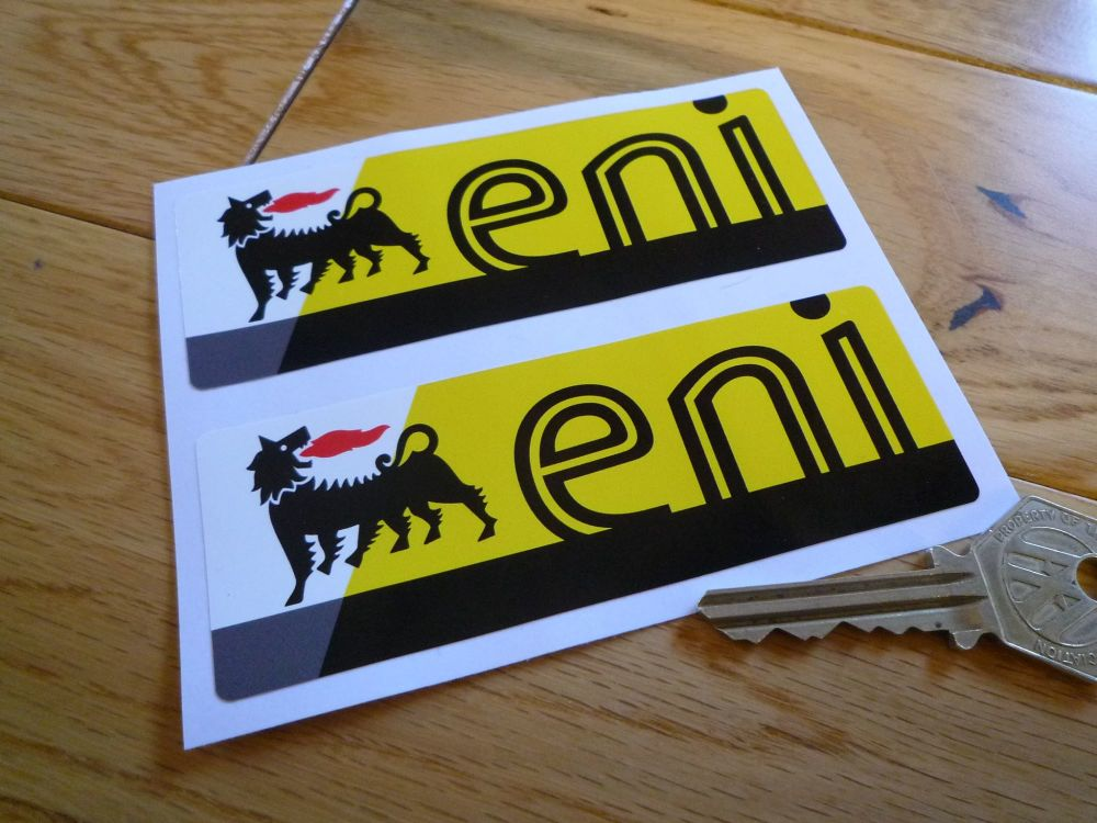 "Eni Oblong Stickers. 4.25"" Pair."