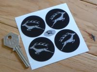 Triumph Stag Brushed Foil Wheel Centre Stickers. Set of 4. 40mm.