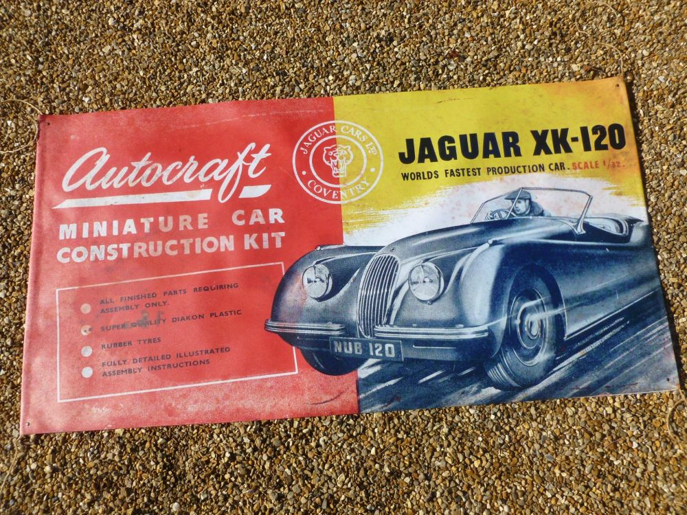 "Autocraft 1951 Jaguar XK120 Banner Art. 47"" x 24""."