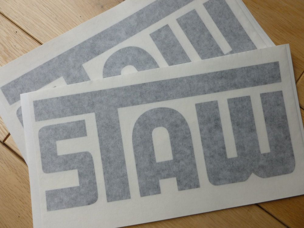 "STAW Cut Vinyl Black or White Sticker. 8.5""."