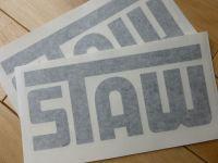 STAW Cut Vinyl Black or White Sticker. 8.5
