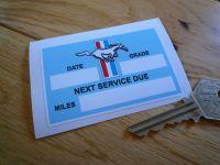 "Mustang Service Sticker. 3""."