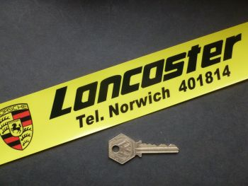 "Lancaster Norwich Dealers Window Sticker. 10.5""."