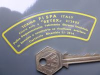 FISPA Torino Italy Air Filter Air Con Sticker. Ferrari Maserati etc. 3.75