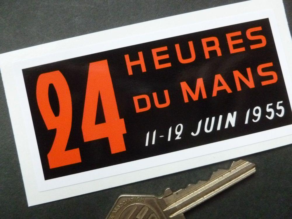"""24 Heures Du Mans 1955 LeMans Le Mans Window or Body Sticker. 4""""."""