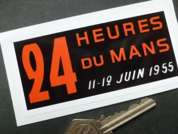 "24 Heures Du Mans 1955 LeMans Le Mans Window or Body Sticker. 4""."