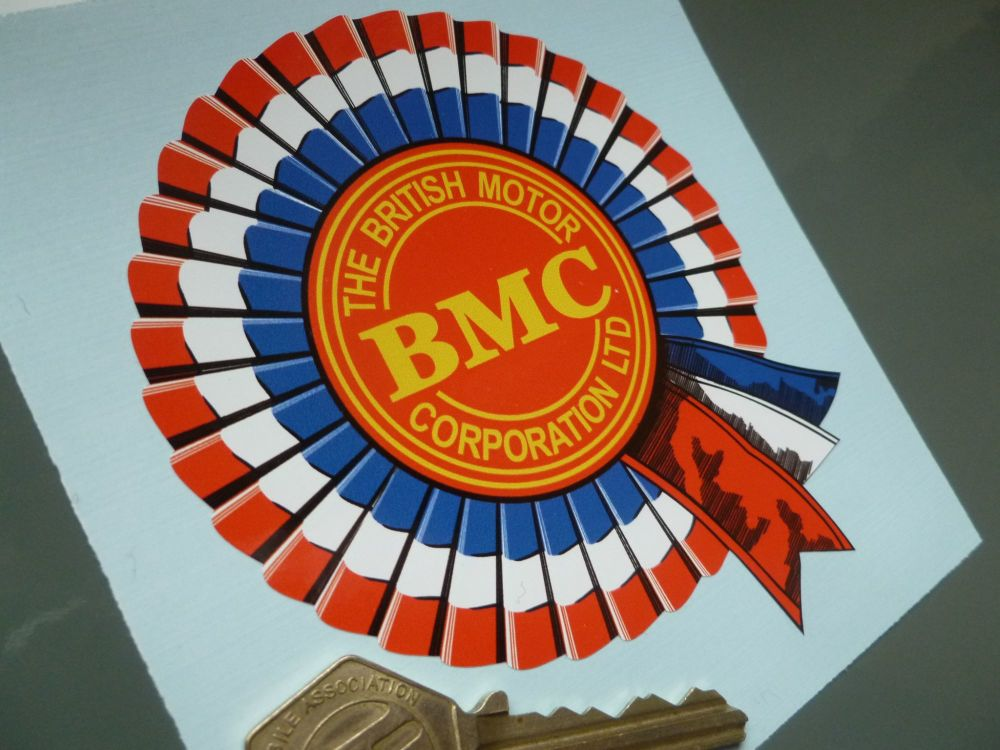 "BMC Shaded Style Rosette Sticker. 4"" or 6"" Pair"
