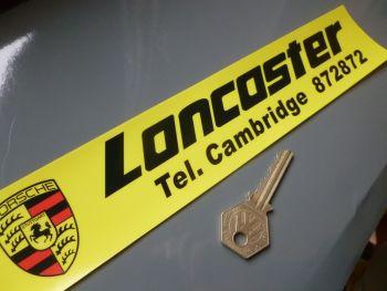 "Lancaster Cambridge Dealers Window Sticker.    10.5""."