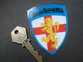 """Lambretta Full Colour Shield Window Sticker. 3""""."""