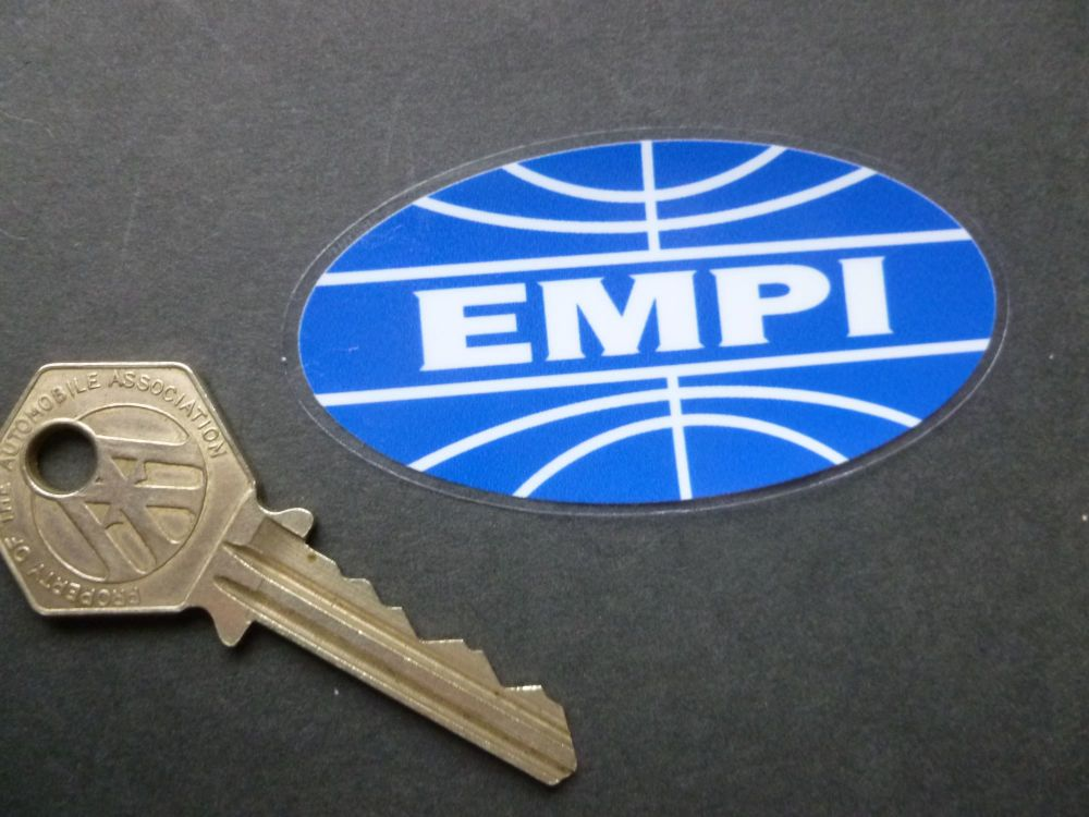 "EMPI Window Sticker. 3""."