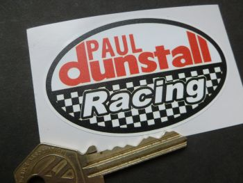 "Dunstall Racing Oval Sticker. 3""."