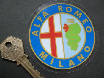 Alfa Romeo Milano Old Logo Window Sticker. Colour. 3""