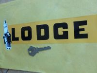 Lodge Text and Spark Plug Sticker. 10