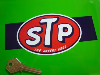 "STP The Racers Edge Band Sticker. 7""."