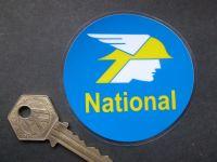 "National Benzole Mercury 60's Style Window Sticker. 3""."