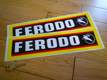 "Ferodo Stag Style Oblong Stickers. 14"" Pair."