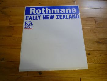 Rothmans Rally New Zealand Door Panel Sticker. Slight Second 270.