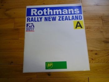 Rothmans Rally New Zealand Door Panel Sticker. Slight Second 020.