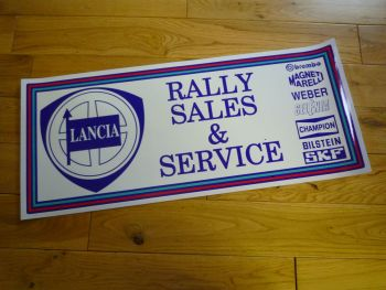 "Lancia Rally Sales & Service Sticker. 24"". Slight Second 308."