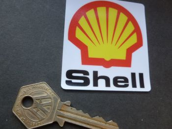 Shell Logo & Text Window Sticker. 60mm.