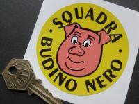 "Squadra Budino Nero Norman Grimshaw Style Circular Sticker. 3""."