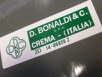 D. Bonaldi & C. Crema Italia S.P.A. 2D 14-05920 Z Green & White Servo Sticker. 55mm.