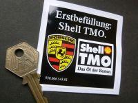Shell TMO Erstbefullung Initial Fill Oil Sticker. 68mm.