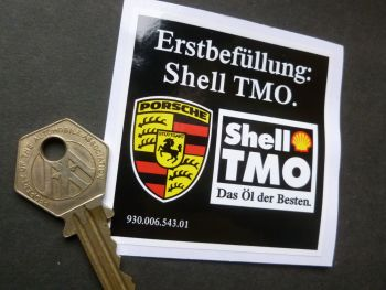 Shell TMO Erstbefullung Initial Fill Oil Sticker. 68mm.