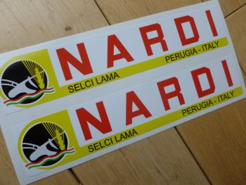 "Nardi Selci Lama, Perugia - Italy Oblong Stickers. 8"" Pair."