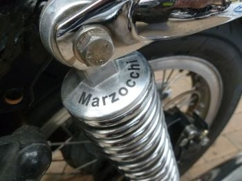 "Marzocchi Semi-Circular Clear Shock Absorber Stickers. 1.75"" Pair."