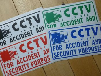 "CCTV Warning Sticker for Race Transporter, Motorhome, Camper, Car, Van etc.. 8"" or 12""."