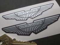 Aston Martin Winged Logo Stickers. Various Sizes.
