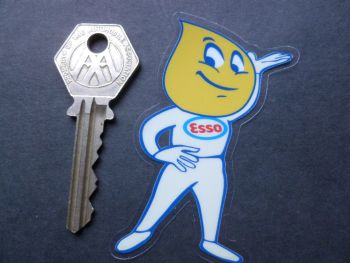 "Esso Oil Drip Boy Window Sticker. 3""."