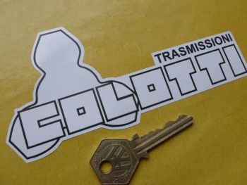 Colotti Trasmissioni Gearbox Black & White Sticker. 150mm.