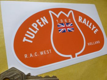 "Tulip Rally Tulpenrallye 1962 Union Jack Rally Plate Sticker. 6""."