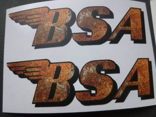 BSA Shaped Rusty Style Stickers. 4