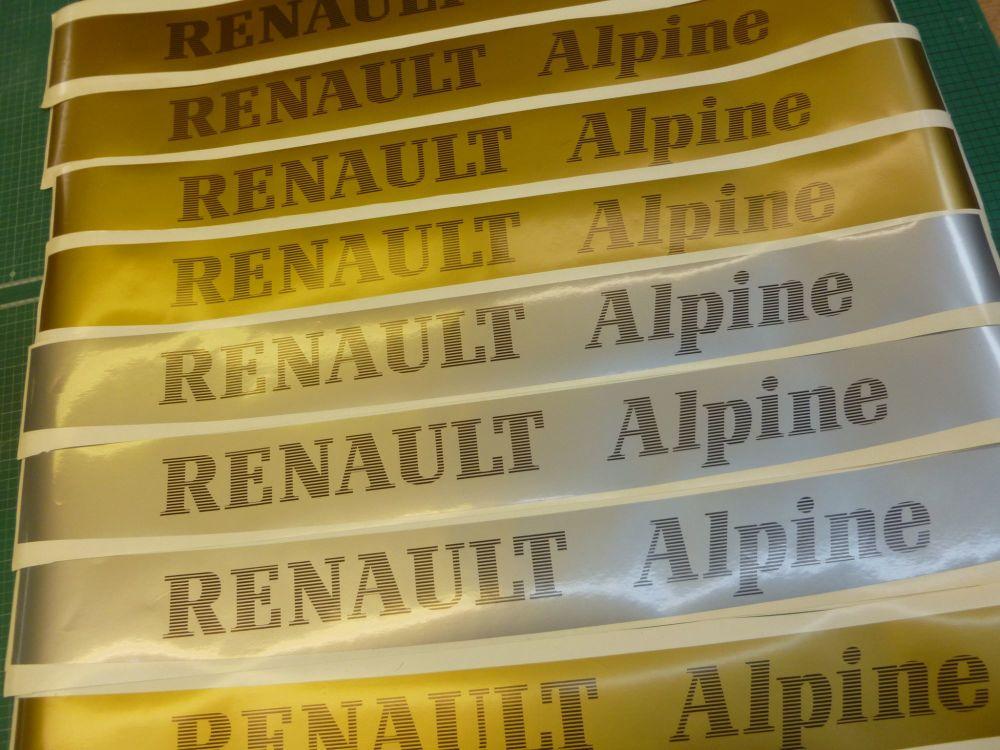 RENAULT ALPINE Screentop Visor Decal. 946mm.