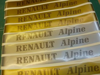 Renault Alpine Screentop Visor Decal Stickers. 946mm.
